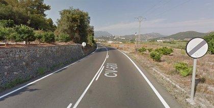 Fallece una persona en un accidente de tráfico en la CV-680 en Potries (Valencia)