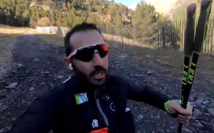 """El video viral de los 'ultratrailers' de Javi Sancho: """"Esto me pasa por el karma"""""""