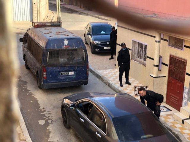 Policía de Marruecos en El Aaiún