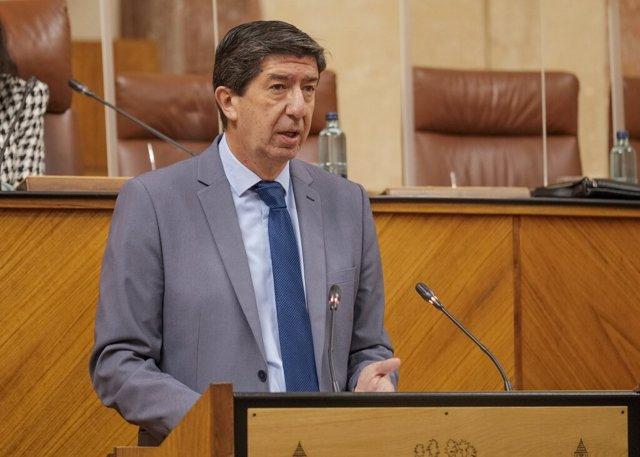 El vicepresidente de la Junta de Andalucía, Juan Marín
