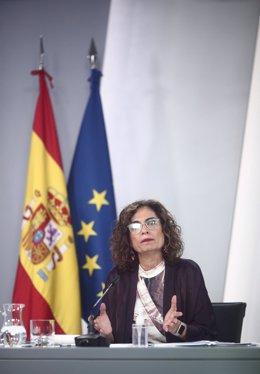 La ministra Portavoz y de Hacienda, María Jesús Montero, en una imagen de archivo.