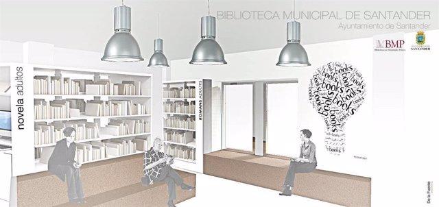 Infografía Biblioteca Municipal Santander en Antiguo Archivo Provincial