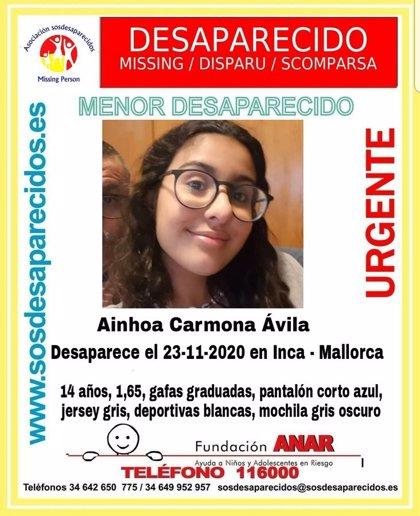 Buscan a una menor de 14 años desaparecida este lunes en Inca