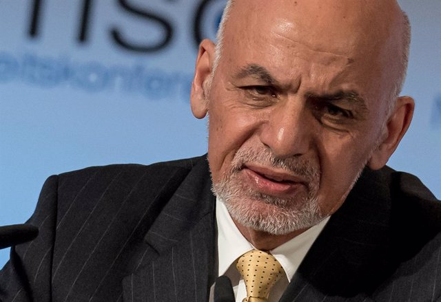 FILED - 03 December 2019, Bavaria, Munich: Ashraf Ghani, President of Afghanistan, speaks during the Munich Security Conference. Ghani on Friday ordered the release of an additional 500 Taliban prisoners, a goodwill gesture in response to the Taliban's of