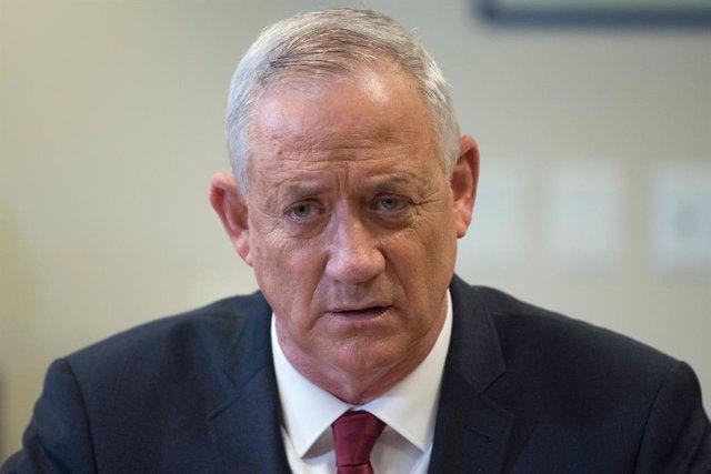 El ministro de Defensa de Israel, Benjamin Gantz