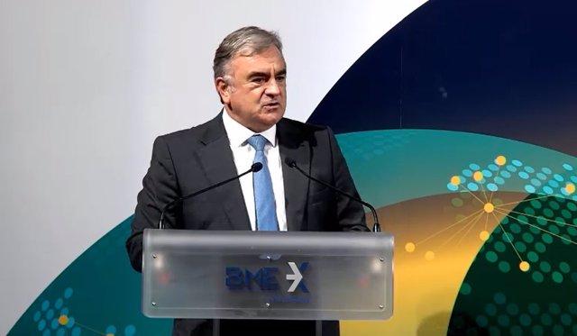 El consejero delegado de BME, Javier Hernani, en el Foro Latibex 2020.