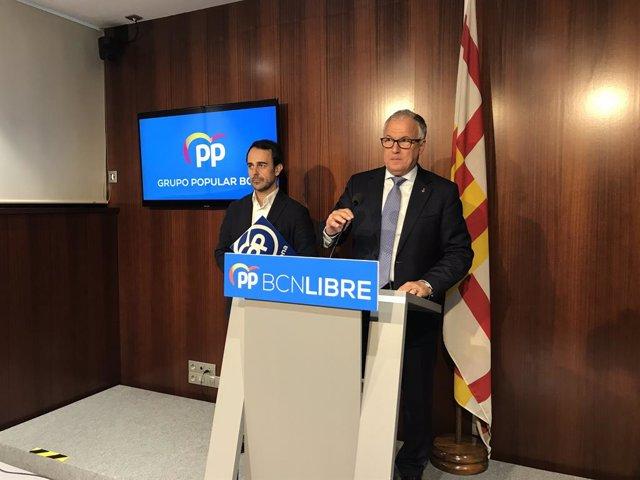 Els regidors del PP a Barcelona, Óscar Ramírez i Josep Bou