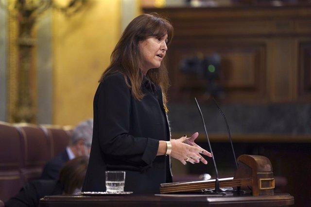 La portaveu de JxCat al Congrés, Laura Borrás, intervé durant una sessió plenària al Congrés dels Diputats.