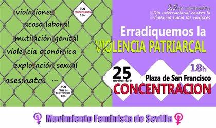 Movilizaciones en Andalucía por el Día contra la Violencia hacia las Mujeres pese a la pandemia