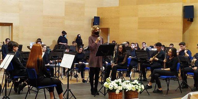 La delegada de Educación y Deporte de la Junta de Andalucía en Córdoba, Inmaculada Troncoso, clausura el ciclo de actuaciones celebradas en el Conservatorio Profesional de Música 'Músico Ziryab'