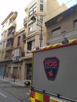 Fotodel lugar del incendio tomada por bomberos CEIS.
