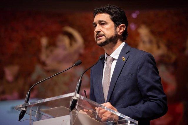 Intervención del conseller Damià Calvet durante la presentación del BforPlanet