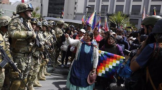 Manifestaciones en apoyo a Evo Morales tras su salida de Bolivia