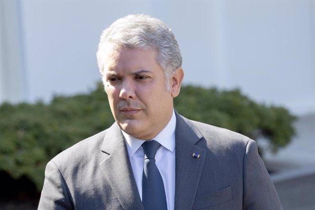 El presidente de Colombia, Iván Duque, durante su última visita oficial a la Casa Blanca.
