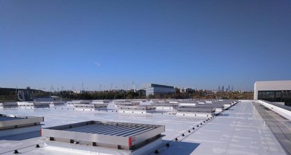 COMUNICADO: La lámina TPO de BMI instalada en tiempo récord en el nuevo Hospital de Emergencias Isabel Zendal en Madrid