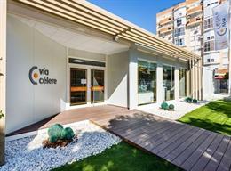 Oficina de ventas de la promotora inmobiliaria Vía Célere