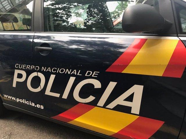 Cotxe de la Policia Nacional.