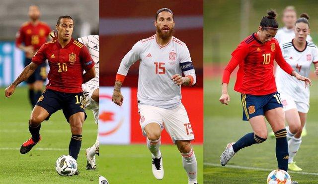 Los jugadores españoles Thiago Alcántara, Sergio Ramos y Jennifer Hermoso, candidatos al premio 'The Best' 2020 de la FIFA