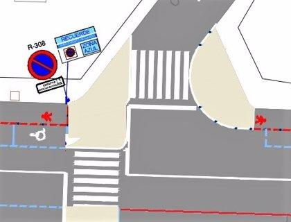 El Ayuntamiento cambia la urbanización de Gonzalo de Berceo y crea un paso peatonal a la altura de la calle Trinidad