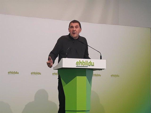 El coordinador general d'EH Bildu, Arnaldo Otegi.