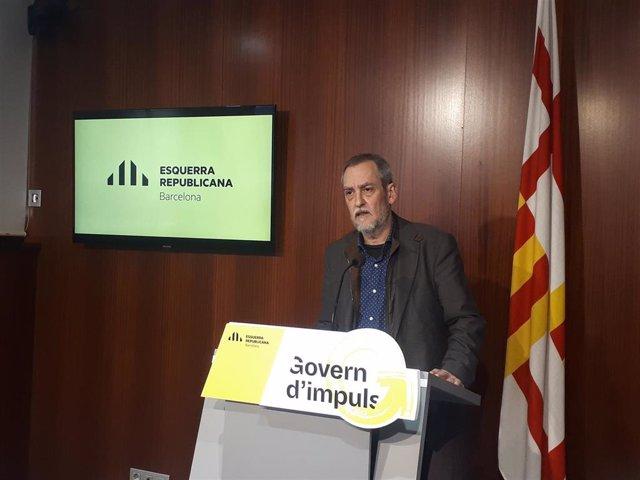 El concejal de ERC en Barcelona, Jordi Coronas