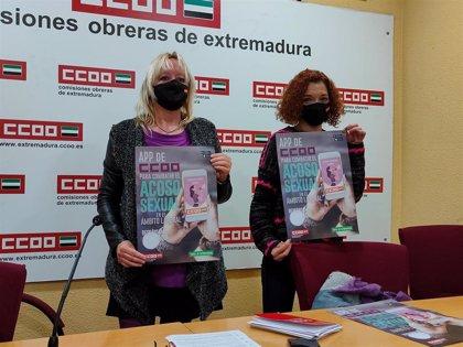 CCOO Extremadura lanza una app móvil para denunciar situaciones de acoso sexual en el trabajo