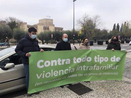 Vox guarda un minuto de silencio con motivo del Día contra la Violencia hacia la Mujer en la Aljafería