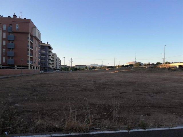 Parcela del Parque Juan Gispert en Logroño
