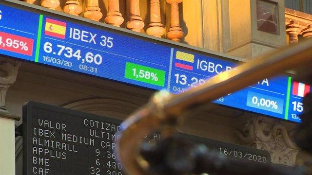 Imágenes de la Bolsa de Madrid.