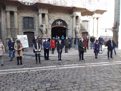 Las instituciones de Navarra se concentran por el Día Internacional de la Eliminación de la Violencia contra la Mujer
