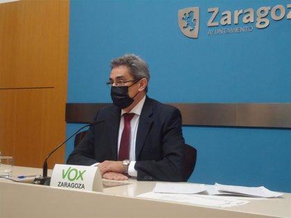 """Calvo (Vox) dice que """"difícilmente cuadran las cuentas"""" ofrecidas por Azcón en el Debate de la Ciudad"""