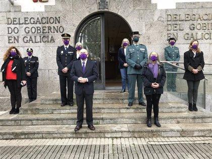 Concentraciones en Galicia expresan el rechazo a la violencia contra la mujer en el 25N