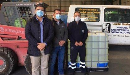 Bolaños recibe 1.000 litros de hipoclorito sódico para desinfectar las calles y espacios públicos