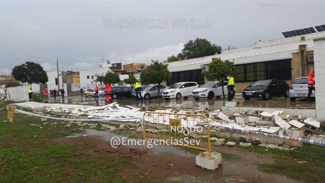 Muro caído en Torreblanca