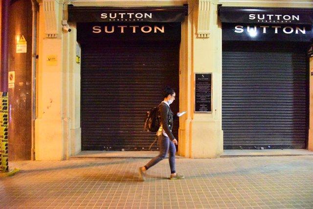 Una discoteca tancada a Barcelona, Catalunya (Espanya), 7 d'octubre del 2020.