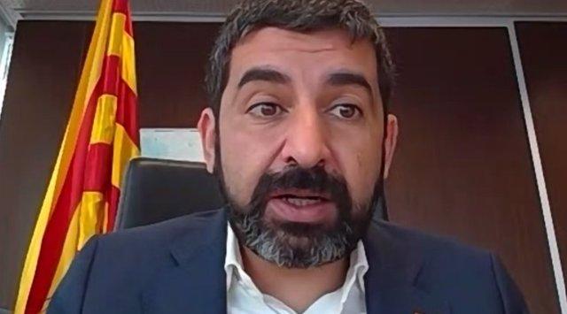 Chakir el Homrani, conseller de Treball, en la jornada 'Els fons europeus inverteixen en les persones'