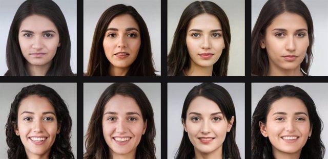 Rostros ficticios generados por AI Anonymizer.