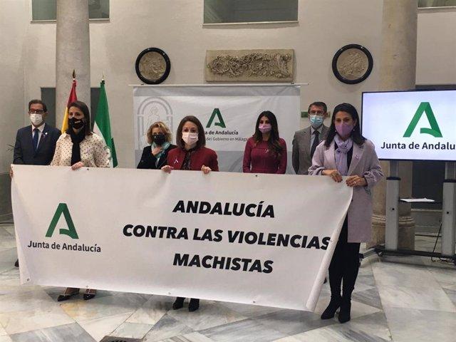 Conmemoración de la Junta de Andalucía del Día Internacional de la Eliminación de la Violencia contra la Mujer en Málaga