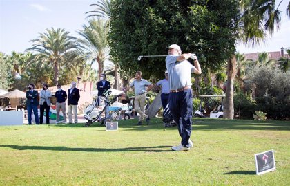 Carlos Suneson se pone al frente del 'Costa de Almería' Campeonato de España de Senior de Golf