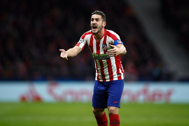 "Jorge Resurreccion ""Koke"" of Atletico Madrid protest during the UEFA Champions League football match played between Atletico de Madrid and Lokomotiv Moscow at Wanda Metropolitano Stadium on December 11, 2019, in Valdebebas, Spain."