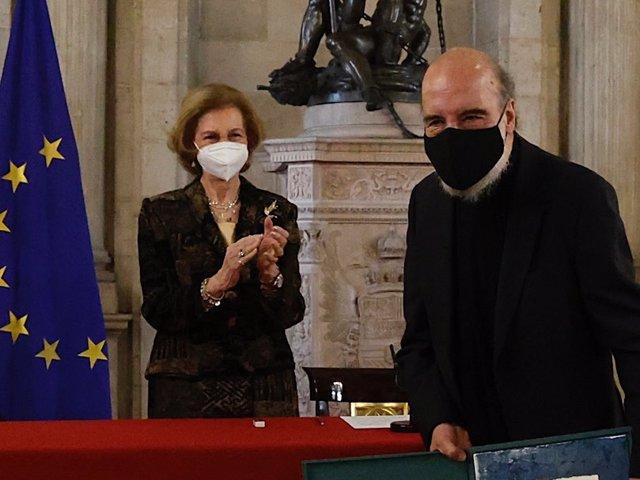 La Reina Sofía en la ceremonia de entrega de la XXIX edición del Premio Reina Sofía de Poesía Iberoamericana