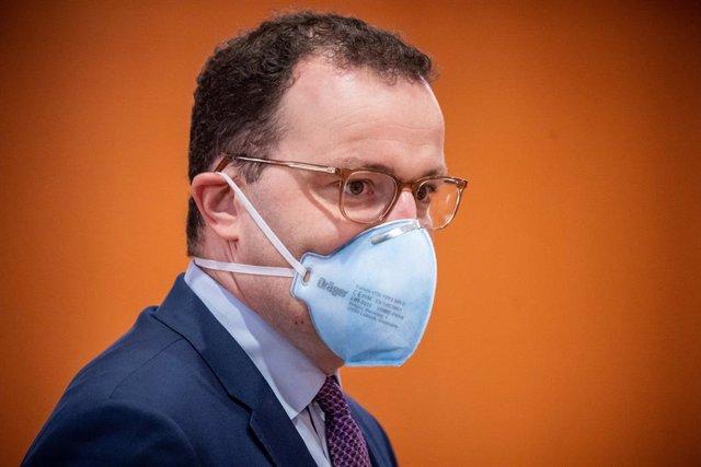 El ministro de Sanidad de Alemania, Jens Spahn, en una reunión del Gobierno en Berlín