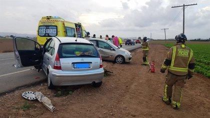 Una mujer muere al chocar el coche en el que viajaba con otro en la carretera entre La Palma y Torre Pacheco