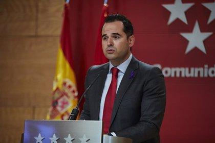 """Aguado defiende que el Plan de Navidad de Madrid """"busca flexibilizar restricciones pero no lanzar mensajes equivocados"""""""