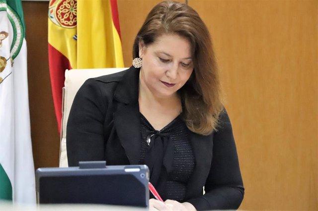 La consejera de Agricultura, Carmen Crespo