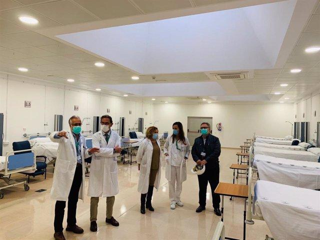 El Hospital Virgen de la Victoria ya dispone de más  una veintena de camas adicionales para aumentar su capacidad de respuesta