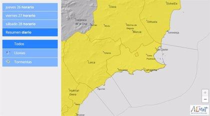 Cartagena se prepara ante el aviso amarillo por fuertes tormentas