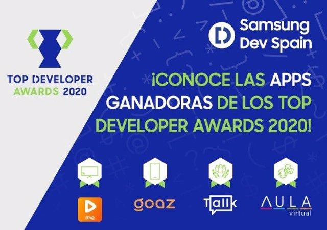 Apps premiadas en los Top Developer Awars 2020 de Samsung.