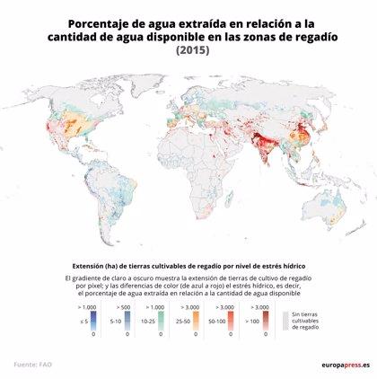 La escasez de agua complica la seguridad alimentaria de más de 1.000 millones de personas