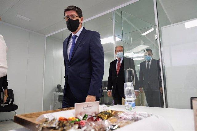 El vicepresidente y consejero de Turismo, Regeneración, Justicia y Administración Local, Juan Marín, en una foto de archivo.